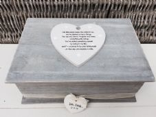 Shabby RUSTIC Chic LARGE Box For Bride From Bridesmaid Wedding Day personalised - 253170179726